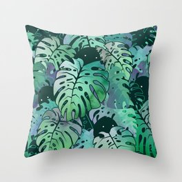 Monstera Monsters Throw Pillow