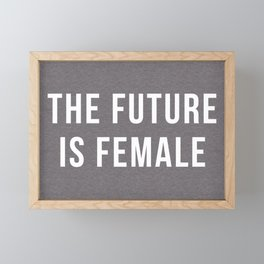 Future Is Female Quote Framed Mini Art Print