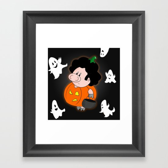 Halloweenie Framed Art Print