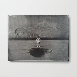 House Disaster Art - Swimmin' Hole? Metal Print