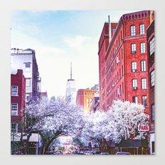 New York City Cherry Blossoms Canvas Print