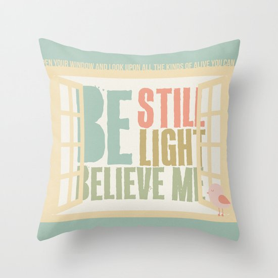 Little Bird - The Weepies Lyrics Throw Pillow
