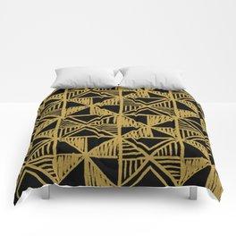 UrbanNesian Black and Gold Design Comforters