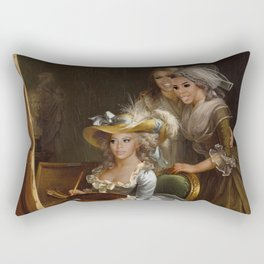 Bey and the Girls Have Some Q-Time Rectangular Pillow