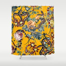 Dangers in the Forest III Shower Curtain