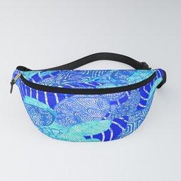 blue sea turtles Fanny Pack
