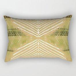Yellow Batik Fall Leaf Minimalist Rectangular Pillow