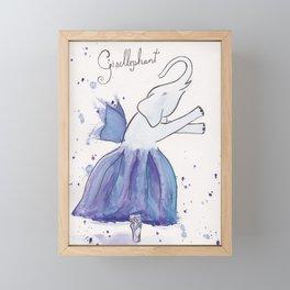 Gisellephant Framed Mini Art Print