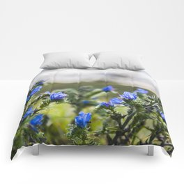 Blue flowers Comforters