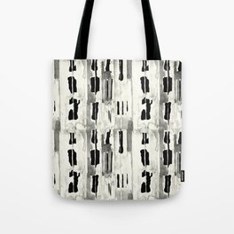 Minimal Black and Cream Abstract Design Tote Bag