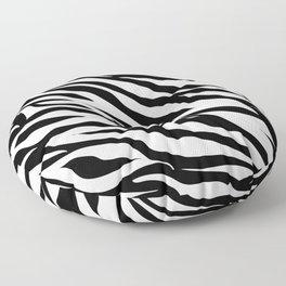 modern safari animal print black and white zebra stripes Floor Pillow