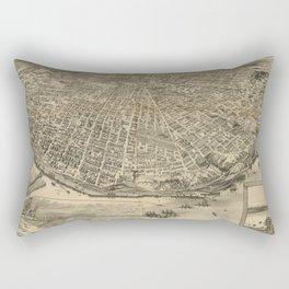 Vintage Pictorial Map of Tacoma WA (1893) Rectangular Pillow
