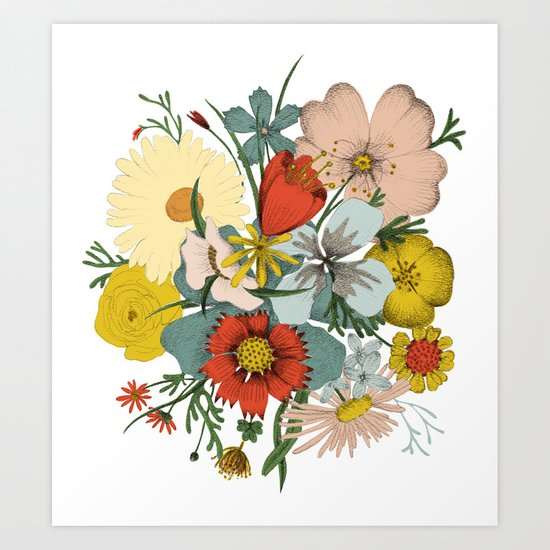 Flower Wad Art Print