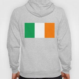 Irish national flag - Flag of the Republic of Ireland, (High Quality Authentic Version) Hoody