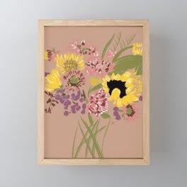 Fleurs d'automne Framed Mini Art Print