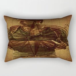 Compass of Uncharted Lands Rectangular Pillow