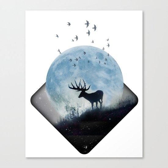 blue moon spill Canvas Print