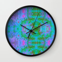 Sedated Abstraction II (Ultraviolet) Wall Clock
