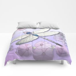 Purple Dragonflies Comforters