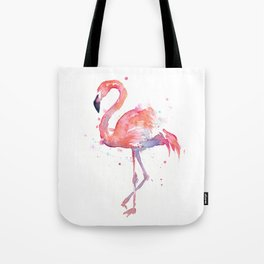 Flamingo Watercolor Tote Bag