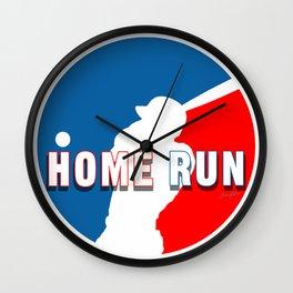 Home Run Baseball Logo Wall Clock