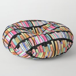 Vintage Book Library for Bibliophile Floor Pillow