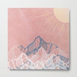 Mountain Sunset Metal Print