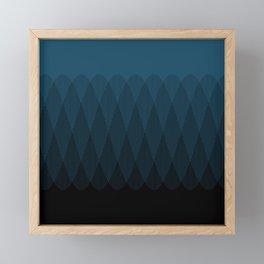 Blue to Black Ombre Signal Framed Mini Art Print