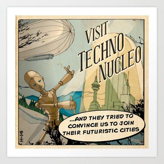 Techno Nucleo Art Print