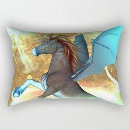 Dark unicorn  Rectangular Pillow