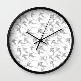 Zebra Shark Print Wall Clock