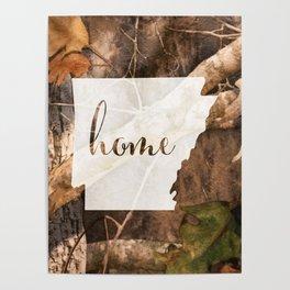 Arkansas is Home - Camo Poster