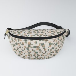 Random Spots in Olive, Honey and Brown on Tan Fanny Pack