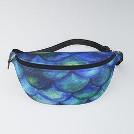 Blue Watercolor Mermaid Fanny Pack