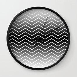Fat Thin Chevrons Dove White Wall Clock