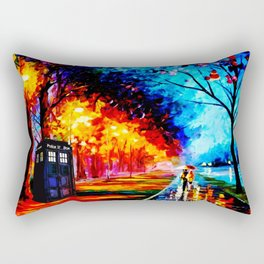 Tardis Colorful Starry Night Rectangular Pillow