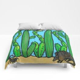 RESIST - armadillo, cactus wren, scorpion on THE WALL Comforters