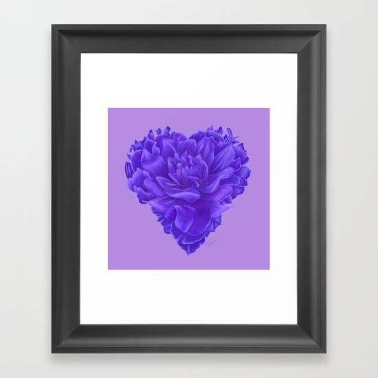 Flower Heart Framed Art Print