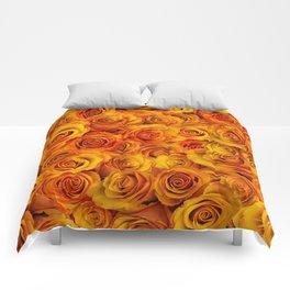 Grenadier Tangerine Roses Comforters