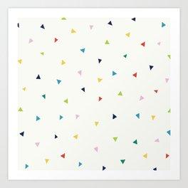 Cute Confetti Pattern Art Print