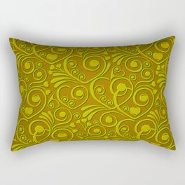 Sweet Hearts, olive Rectangular Pillow