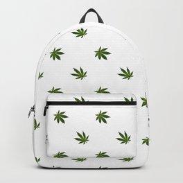 Cannabis Leaf (Mini) - White Backpack