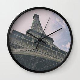 Eiffel Tower in Paris, France. Landmark in France Wall Clock
