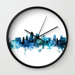 Kansas City Missouri Skyline Wall Clock