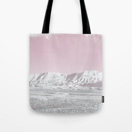 Mojave Snowcaps // Las Vegas Nevada Snowstorm in the Red Rock Canyon Desert Landscape Photograph Tote Bag