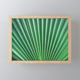 Palm Leaf Texture Framed Mini Art Print