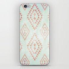 mint & coral tribal pattern iPhone & iPod Skin