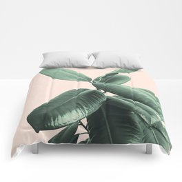Ficus Elastica #25 #SummerVibes #foliage #decor #art #society6 Comforters