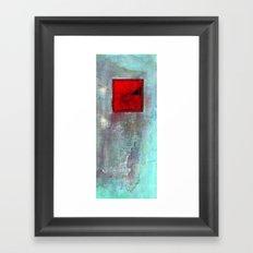 VENTANA EN EL MURO Framed Art Print