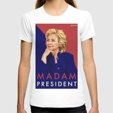 Hillary Poster  LARGE Womens Fitted Tee White